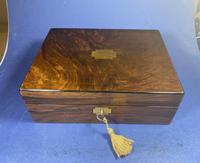 Victorian Walnut Jewellery Box (6 of 13)