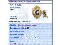 6.20ct Garnet, Pearl & Enamel, 18ct Yellow Gold Pendant / Brooch - Antique c.1880 (10 of 15)