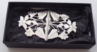 Rare 1902 Art Nouveau Hallmarked Solid Silver Nurses Belt Buckle Sydney & Co (10 of 10)