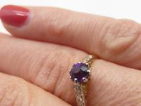18ct Amethyst & Diamond Ring (6 of 6)