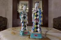 Charming Near Pair of 18th Century Chinese Export Immortals - Harlequin (9 of 11)