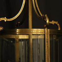 French Pair of Bronze Antique Hall Lanterns (3 of 10)