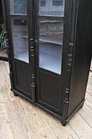 Fabulous Old Pine / Black Painted Glazed Cupboard / Display Cabinet - We Deliver! (6 of 12)