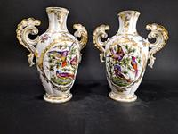 Pair of Hand Painted Porcelain Vases (3 of 6)