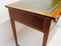 Victorian Jas Shoolbred Inlaid Mahogany Writing Table (7 of 24)