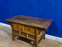 Chinese 19th Century Elm Altar Prayer Coffee Table 'Qing Dynasty' (5 of 8)