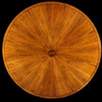 Circular Olive Wood and Ebony Dining Table (3 of 6)