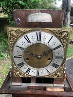 Small Georgian Oak Weight Drive Granddaughter Clock (9 of 12)