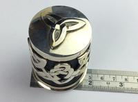 """Solid Silver """"Hallmarked"""" Celtic  Lidded Pot Very Unusual Available Worldwide (10 of 10)"""