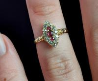 Victorian Ruby & Diamond Navette Ring (13 of 14)