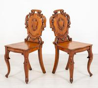Wonderful Pair of Victorian Oak Hall Chairs (4 of 7)
