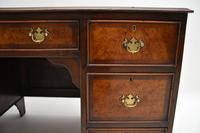 Antique Burr Walnut  Leather Top Desk (9 of 13)