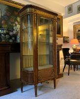 Exceptional 19th Century French Kingwood Parquetry Gilt Metal Vitrine Display Cabinet (8 of 17)