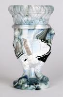 Sowerby / Edward Moore Marbled Slag Glass Gryphon Vase c.1880 (2 of 16)