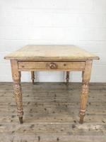 Antique Pine Farmhouse Kitchen Table (4 of 10)