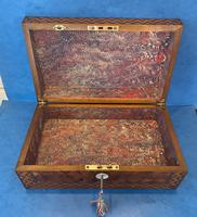 Victorian Inlaid Parquetry Rosewood Box (12 of 12)