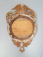 Antique Regency carved Convex Mirror c 1820 (5 of 6)
