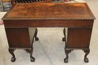1940s Mahogany Desk with Brown Leather Inset.1 Piece (2 of 5)