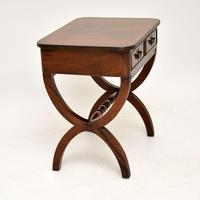 Antique Regency Style Mahogany Side Table (5 of 8)