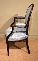 George III Mahogany Oval Back Armchair (3 of 6)