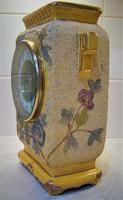 Delightful & Unusual 1900 French Pottery Mantle Timepiece (2 of 5)