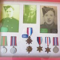 Family group of WW1/2 Medals one KIA (2 of 5)