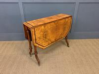 Victorian Inlaid Burr Walnut Sutherland Table