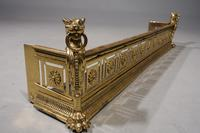 An Exceptionally Fine Late 19th Century Pierced Brass Fender (7 of 7)