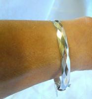"""Vintage Sterling Silver Bangle 1971 Silver Fancy Bracelet 7"""" Length 19.6 Grams (11 of 11)"""