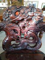 Antique Chinese Qing Dynasty Rosewood Throne Chair (4 of 10)