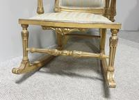 Pair of Regency Painted & Parcel Gilt Rocking Chairs (14 of 17)