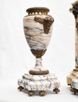 Antique Mantle Clock Set Garniture French Empire Urns (16 of 27)