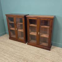 Pair of Victorian Walnut Antique Bookcases (5 of 7)