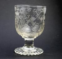Exceptional, Fine & Rare Regency Oddfellows / Masonic Glass Rummer c.1814 (2 of 11)