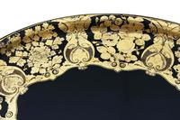 Victorian Decorated Black Lacquer Tray on Stand Coffee Table (7 of 11)