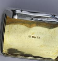 A Good Antique Solid Silver Engraved & Engine Turned Table Snuff Box C.1860 (11 of 11)