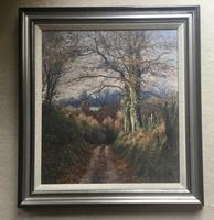 Mervyn Goode Oil Painting - Oak Leaves in the Deep Lane Emshott Green Hampshire (2 of 3)
