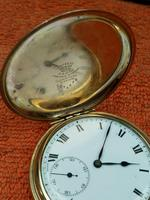 A.W.C CO Empress Canada Case, Swiss Movement Full Hunter Pocket Watch Gold Plated (3 of 7)