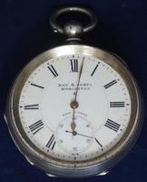 Antique Silver Pocket Watch Keyless Wind Open Face Pocket Watch Kay & Comp (6 of 10)