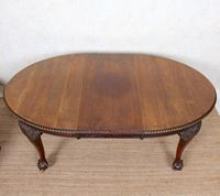 Oak Dining Table & 6 Chairs Telescopic 19th Century (3 of 19)