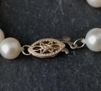 Vintage 1940s Cultured Pearl necklace, 14k gold (11 of 11)