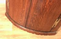 Good Georgian Oak Bow Front Corner Cupboard (8 of 8)