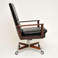 Danish Rosewood & Leather Desk Chair by Arne Vodder (9 of 13)