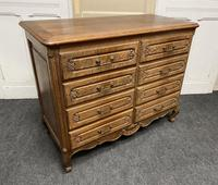 Stylish French Oak Chest of Drawers (3 of 18)