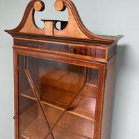 Quality Tall Slim Mahogany Victorian Antique Bookcase (3 of 8)