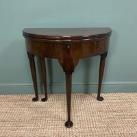Edwardian Walnut Antique Tea Table (4 of 6)