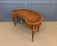 French Kingwood Parquetry Kidney Shaped Desk (19 of 19)
