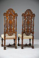 Pair William & Mary Style Chairs (7 of 12)