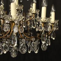 Italian 18 Light Gilded Brass Antique Chandelier (7 of 10)