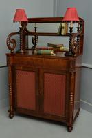 Fine Regency Mahogany Chiffonier Side Cabinet (11 of 18)
